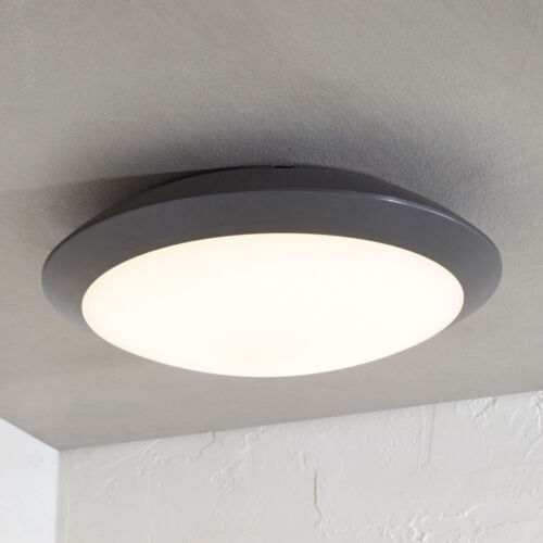 LED ESTERNO PLAFONIERA nigeriana circa GRIGIO SCURO ESTERNO LAMPADA LAMPADE mondo ip65 muro