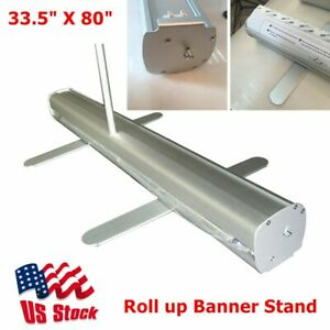 """33.5"""" X 80"""" H Economic Roll up Banner Stand Roll Up Display Stand US Stock"""