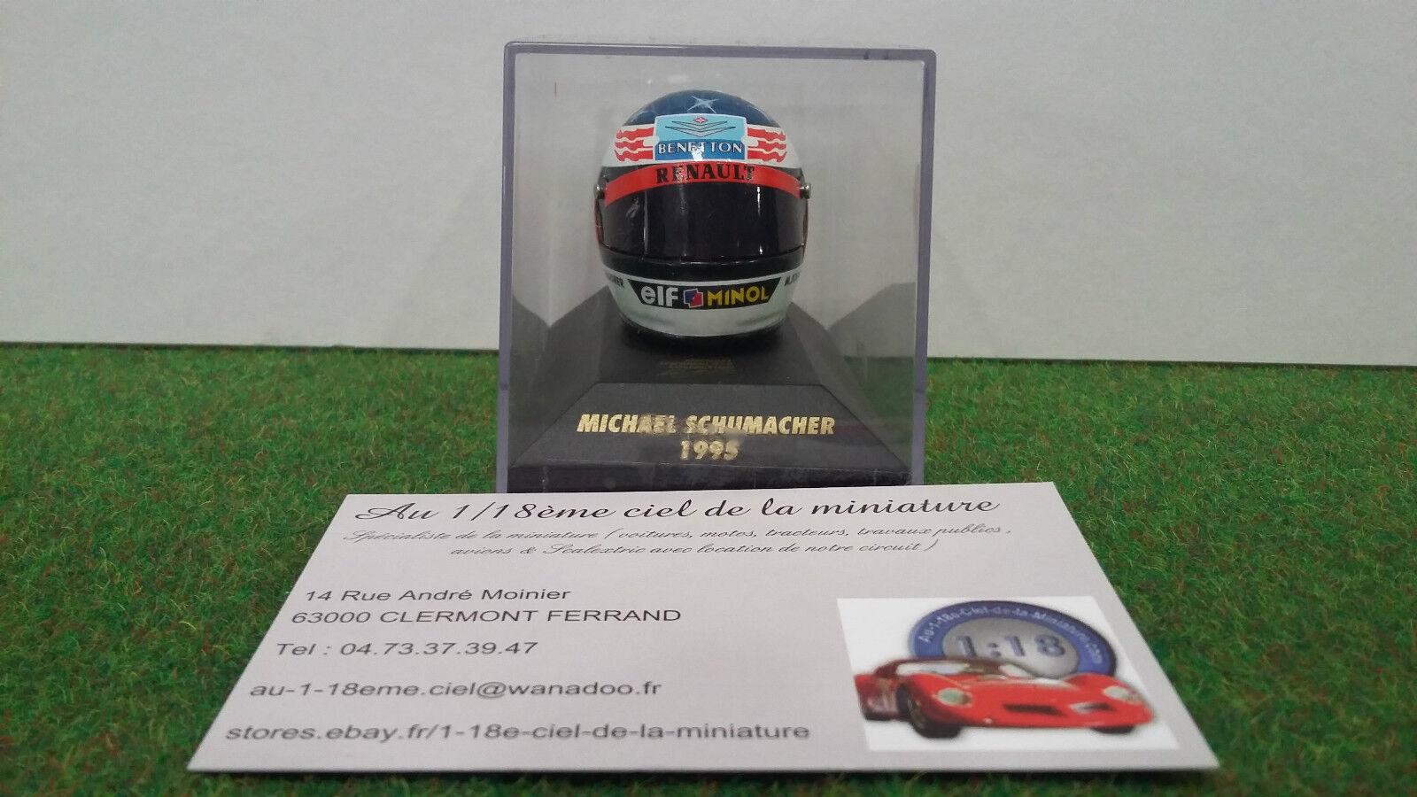 la mejor selección de HELMET F1 CASQUE PILOTE formule 1 1 1 Mich.. SCHUMACHER 1995 BENETTON 1 8 MINICHAMPS  Tienda 2018