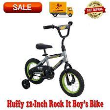 Huffy 12-Inch Rock It Boys Bike Silver Matte Lime NEW
