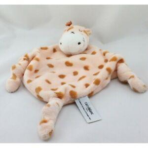 Doudou-plat-girafe-CARRE-BLANC-Vache-Girafe-Plat-Semi-plat