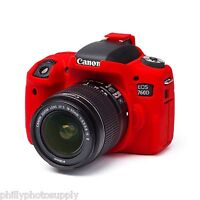 easyCover Armor Protective Skin for Canon EOS Rebel T6s Red - Free US Shipping