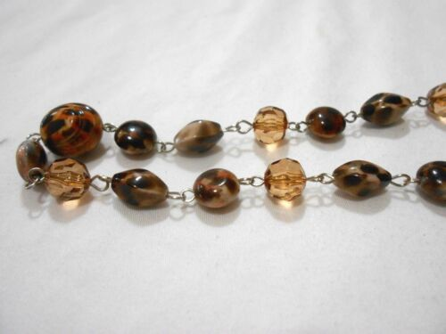 "NEW CHUNS 27/"" SHADES OF BROWN BEAD NECKLACE PERFECT EVERYDAY WEAR........NICE"