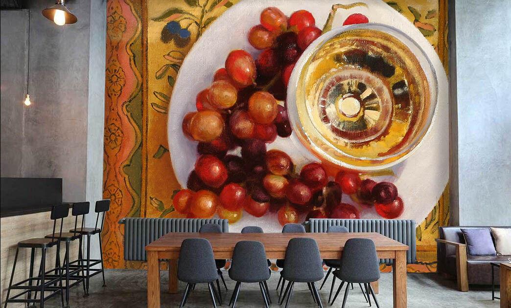 Papel Pintado Mural De De Mural Vellón Té De La Tarde De Frutas 2 Paisaje Fondo Pantalla 711224
