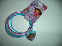 Dora The Explorer Pink And Blue Bracelets With A Heart With Dora And Boots