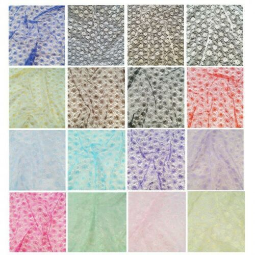 Floral Lace Fabric 100/% Polyester Dress Net Bridal Material