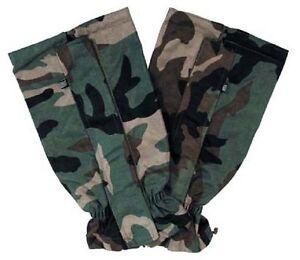Charmant Us Woodland Camouflage Guêtres Army Gaitors Membrane-afficher Le Titre D'origine