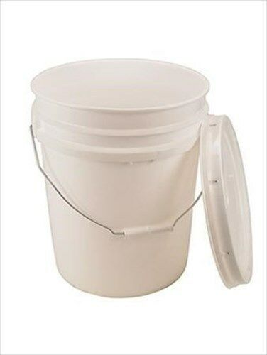 5 GALLON BUCKET WITH LID - BPA FREE  FOOD GRADE 90 MIL PLASTIC- ALL PURPOSE PAIL