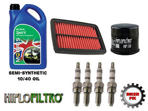 Service-Kit-10-40-Oil-Spark-Plugs-Oil-and-Air-Filter-Yamaha-YZF-600-Thundercat