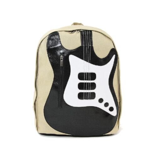 Far Nine Musically Inspired Electric Guitar Canvas Backpack Sachel Bag