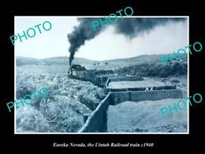 OLD-LARGE-HISTORIC-PHOTO-OF-EUREKA-NEVADA-THE-UINTAH-RAILWAY-TRAIN-c1940