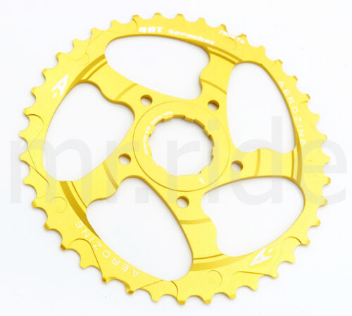 Aerozine CNC 40T Sprocket Cassettes +16T fit Shimano 10 speed Gold