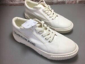 calvin klein white trainers size 7