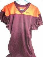 Eastbay Men's Ball Hawk Game Football Jersey,maroon/orange,polyester,large,new