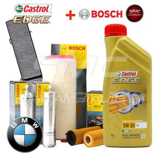 Kit-tagliando-olio-CASTROL-EDGE-5W30-6-LT-4-FILTRI-BOSCH-BMW-320D-E90-E91