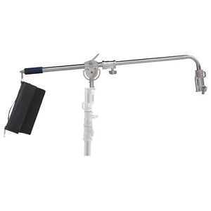 Angled-Curved-Boom-Arm-Heavy-Duty-Combo-Receiver-Photo-Video-Film-Studio