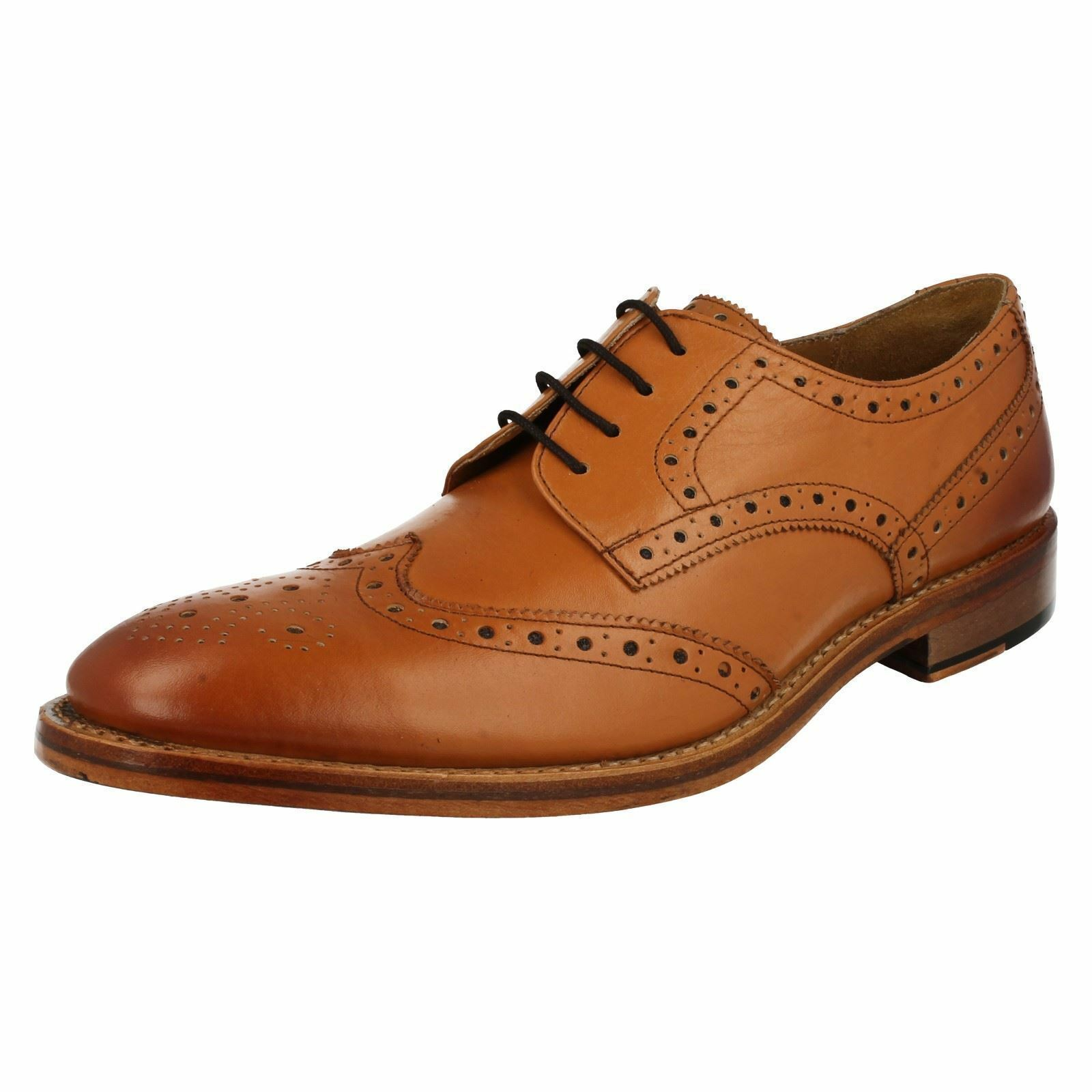 Catesby 'Surrey' Mens Formal Brogues in Tan Leather with a Goodyear Sole