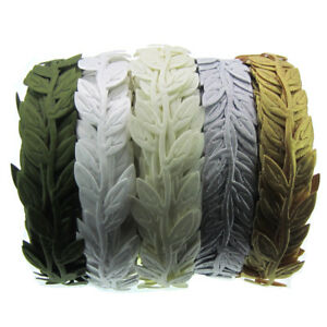 """20yards Silk Leaves Ribbon Artificial leaf Garland Headband Craft Decorations 1/"""""""