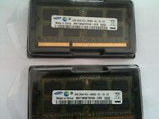 Used 4GB RAM PC3-8500 DDR3-1066 KIT (2x2GB) 204pin 1066Mhz SoDimm Laptop Memory