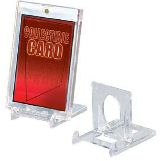 3 Pack BCW 2-Piece Clear Adjustable Card Stands Put Your Cards On Display!