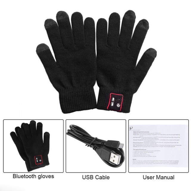 Bluetooth Talking & Touch Screen Phone Gloves Gesture Touch Screen Speaker Set