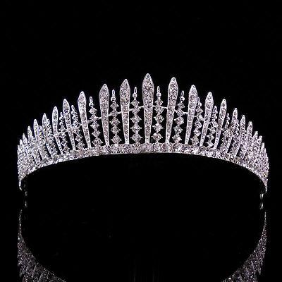 3cm hoch Rot Hochzeit Braut Haarschmuck Haarreif Kommunion Krone Diademe Tiara