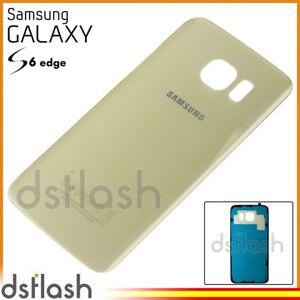 115e3c5e94c La imagen se está cargando Tapa-Trasera-Samsung-Galaxy-S6-Edge -Dorado-Cubierta-