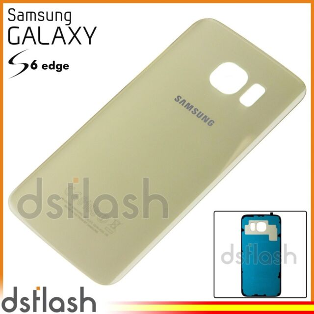 Tapa Trasera Samsung Galaxy S6 Edge Dorado Cubierta Bateria Cristal G925 Dorada