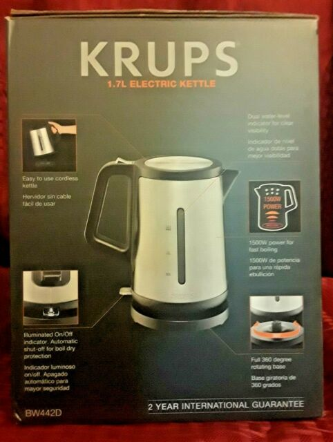 KRUPS BW730D50 1.7L Stainless Steel Signature Series Kettle