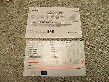 Airline Hobby Supplies decals 1/144 AHS4004 Canadian Pacific Boeing 737-200  N70