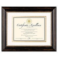 Dax Genova Document Frame With Mat 11 X 14 8 1/2 X 11 Plastic Black N4100s3t on sale