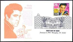 Elvis-Presley-2721-First-Day-Cover-Gamm-Cachet-Memphis-TX-Music-Cancel-Lot-328
