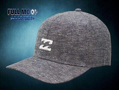 New Billabong System Twill Mens Snapback Black Cap Hat