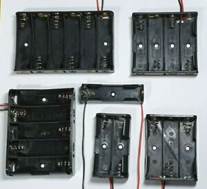 AA-Battery-Holder-Choose-from-1-6-slots-150mm-lead-wires-Free-UK-P-amp-P