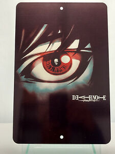 Death-Note-One-Eye-Or-L-Brushed-Metal-Sign-Variations-Anime-Deathnote