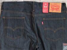Levi's Men's 514 0611 28x30 Rigid Envy Blue Regular Fit Tothigh Straight Leg
