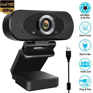Webcam USB PC Camera Full HD 1080P Web Cam Con Microfono Per Computer Desktop IT