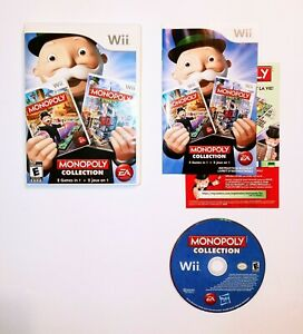 Monopoly Collection 2 Games In 1 for Nintendo Wii CIB Video Game