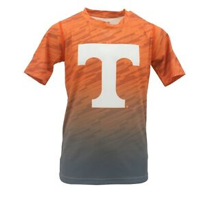 NCAA Tennessee Volunteers Youth Boys Diagonal Short sleeve Polyester Competitor T-Shirt Youth Large,White