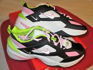 Details about Women's Size 9.5 NIKE M2K TEKNO CI5772 001 Running Shoes PINK  Black WHITE & Lime