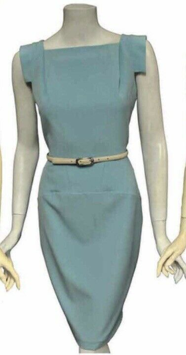NWT Single Victoria TailGoldt Pencil Dress in Turquoise Größe 4