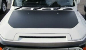 Toyota-FJ-Cruiser-Bonnet-Decal-Black-out-Hood-Wrap-Vinyl-Matte-Black