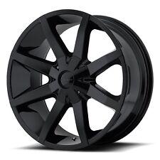 20 Inch Wheels Rims Gloss Black Ford F150 Truck 5x135 Lug KM651 Slide Set of 4