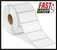 Direct Thermal Shipping Paper 1300 Labels Per Roll Tape 2 X 1 For Zebra 2x1