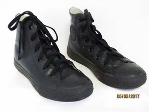 5016b3711e3ed8 EUC Converse Chuck Taylor All Star Boys Black Rubber High Tops ...