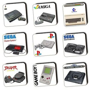 Details about Retro Gaming Game Consoles - Gaming - Coasters - Wood -  Gaming Gifts - 4 FOR 3