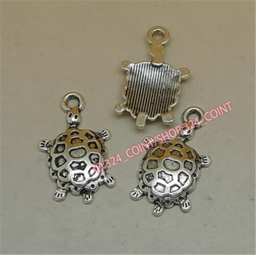P1191 12pc Tibetan Silver tortoise Charm Beads Pendant accessories wholesale