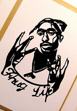 "2PAC Original Pop Art,Hip Hop Celebrities 4""X 6"" inches Thug Life Vinyl Sticker"