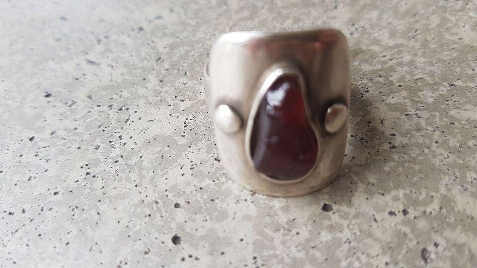 Fingerring, sølv, Hjemmelavet