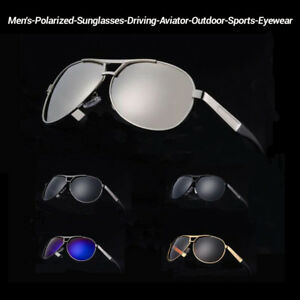 3651dc1e6 Image is loading Mens-Polarized-Vintage-Sunglasses-Outdoor-Driving-Sports- Glasses-